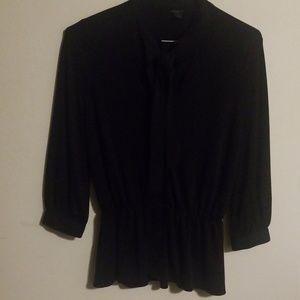 ANN TAYLOR black blouse petite size M